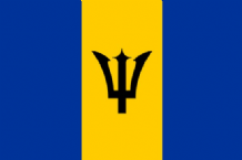 BARBADOS - MINI FLAG 22.5cm x 15cm